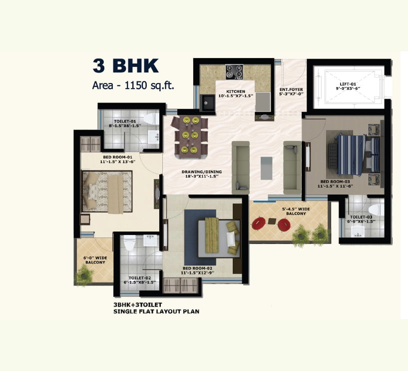 3-bhk-layout-the-address-new-chandigarh